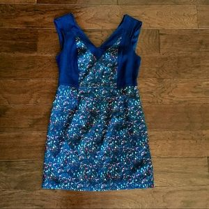 Dresses & Skirts - Navy and speckled colorful dress
